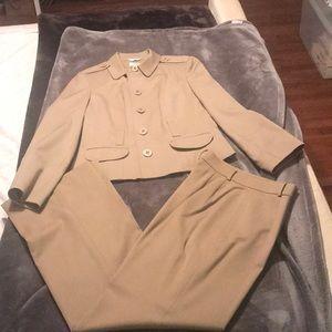 Camel color pant suit